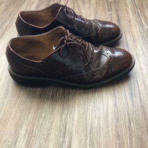 J Crew Oxford Wing Tips Men's Size 9 Shoes Leather